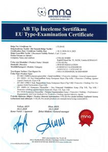 Colak Pro Type 3B 4B Type Examination Certificate